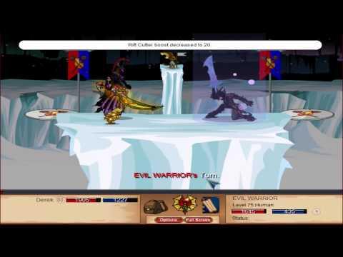 Dragon Fable Chronno Corrupter vs. DoomKnight
