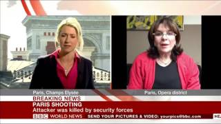 Nathalie Goulet on CNN after the Paris shooting near Champs-Elysées