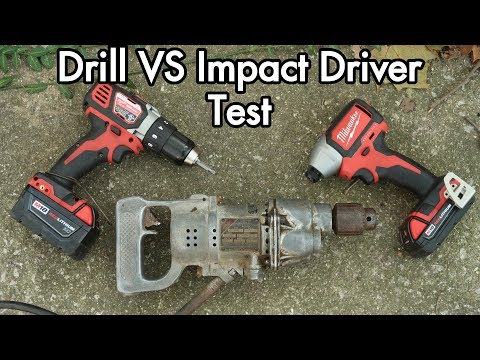 Lithium Power Drill vs Impact Driver vs Antique 1930s Thor: