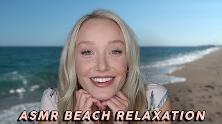 ASMR Relaxing Beach Day! 🌊👙🌞 (Sunscreen Application, Sand & Shells, Ocean Waves, Reading...)