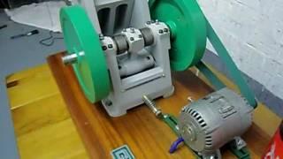 jaw crusher working scale model