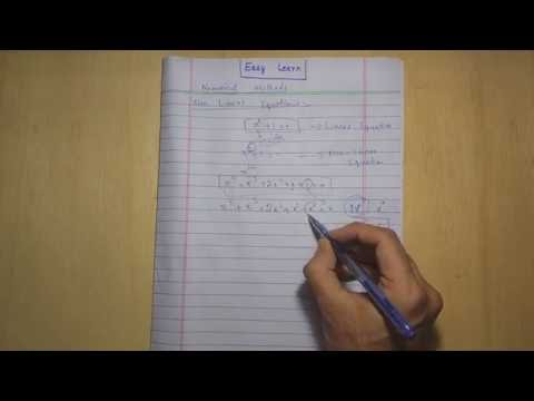 Introduction to Numerical Methods (Solution of non-linear Equations) Episode 1 Urdu/Hindi