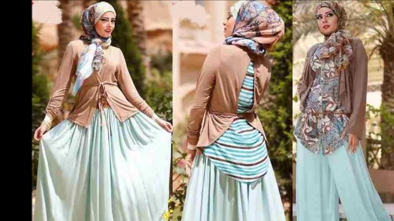 34cf66565 اجمل واروع ملابس للمحجبات بمناسبة عيد الاضحى اروع مجموعة - YouTube