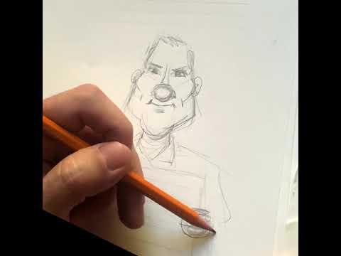 Tuto caricature d'Yves Calvi