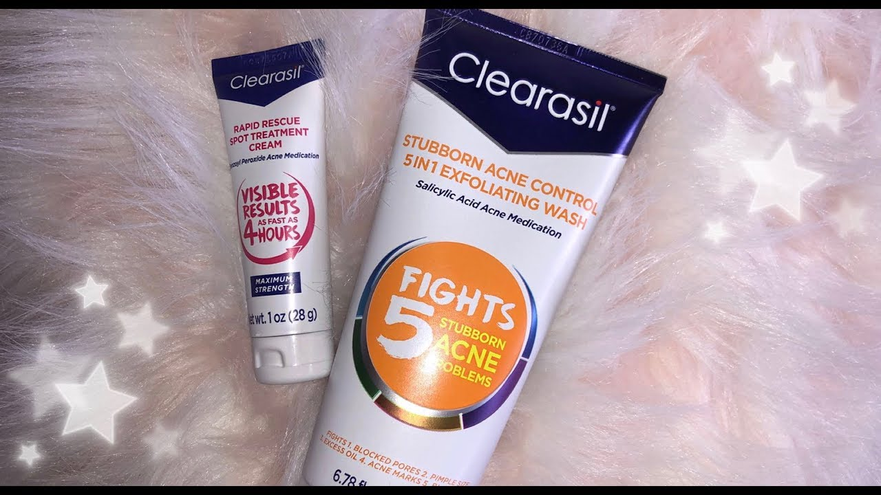 Testing Clearasil Acne Fighting Products Round 2 Youtube