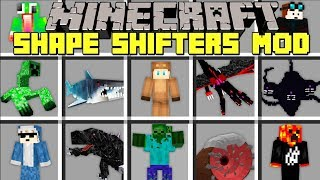 Minecraft SHAPE SHIFTER MOD l MORPH INTO ANY MINECRAFT YOUTUBER, MOB, OR BOSS! l Modded Mini-Game