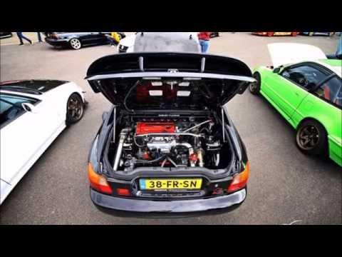 Honda Del Sol RWD mid engine conversion semi build B16 turbo (short movie)