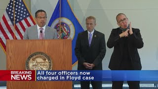 AG Keith Ellison Announces New Charges Against All 4 Ex-MPD Officers In George Floyd's Death