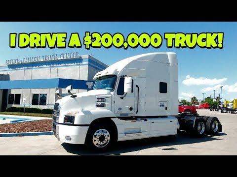 I drive a $200,000+ 2018 MACK Anthem Semi truck!