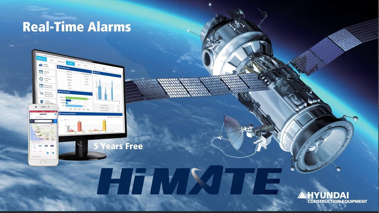 Hyundai Hi MATE Construction Equipment Remote Managment GPS-Based  Technology- Promo Video