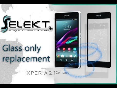 Sony Xperia Z1 Compact (D5503) Glass Touch Digitizer Only Replacement / Wymiana szybki | Selekt