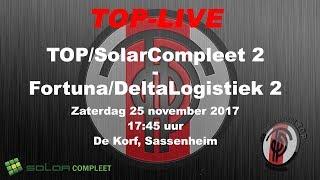 TOP/SolarCompleet 2 tegen Fortuna/Delta Logistiek 2, zaterdag 25 november 2017