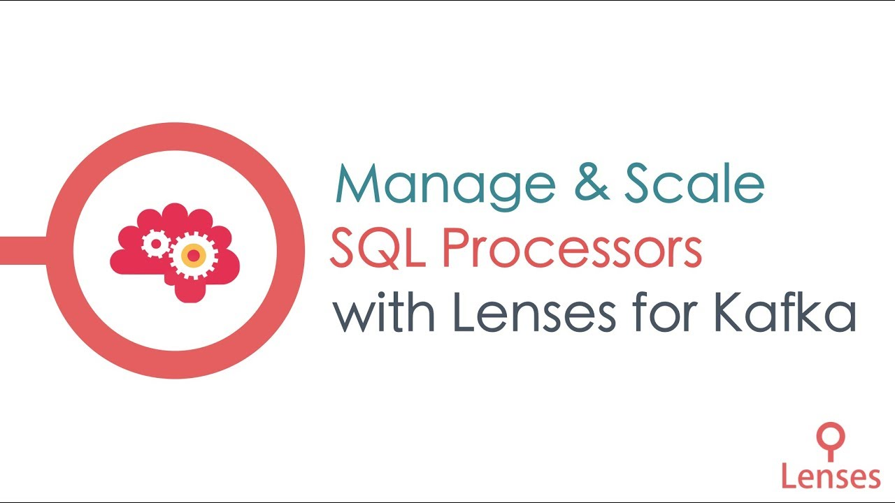 apache kafka logo. manage and scale lenses sql processors | for apache kafka ® logo