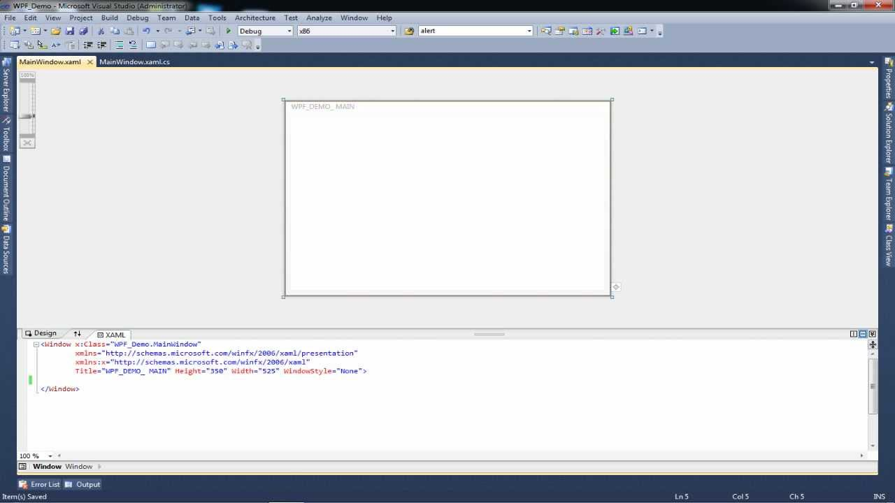 Drawing Lines In Wpf C : Tutorial wpf application c using the grid layout
