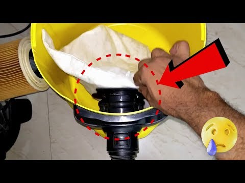 how to fix dust bag in karcher vacuum cleaner