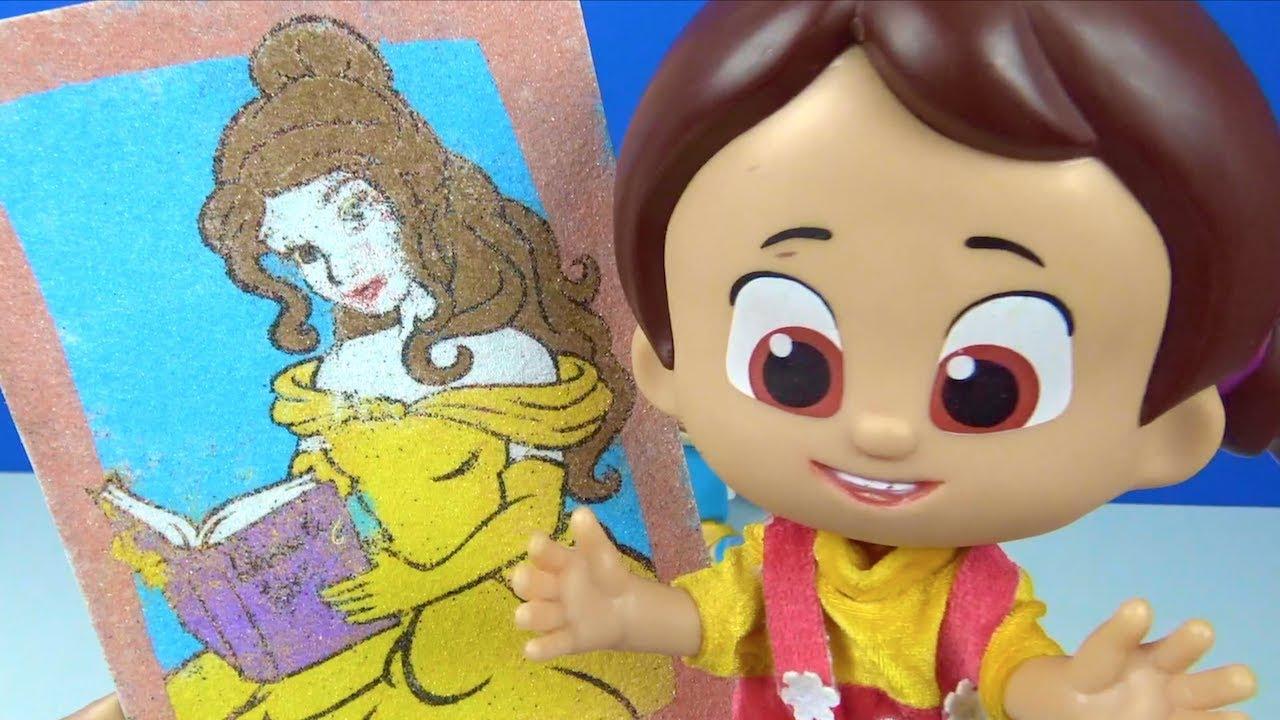 Niloya Prenses Bella Kum Boyama Yapiyor Kum Boyama Aktivite Seti