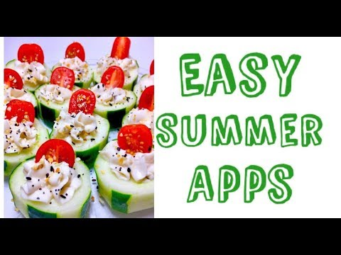 Easy Vegan Summer Appetizer Recipes | Cute Cucumber Cups
