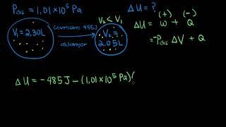 İç Enerji Hesaplama ve İş Örneği (Fen Bilimleri) (Kimya)