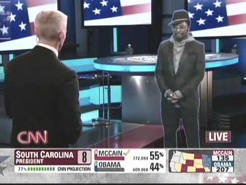 CNN Will I Am Hologram, First Time On TV