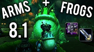 Arms Warrior 8.1 Update for PvE & PvP + How To Get Frog Mounts!