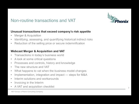 M&A Integration and Indirect Tax: Managing the Moving Parts before, during, and after a Transaction
