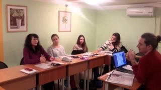 Фрагмент урока английского языка в группе Upper-intermediate (часть 1)