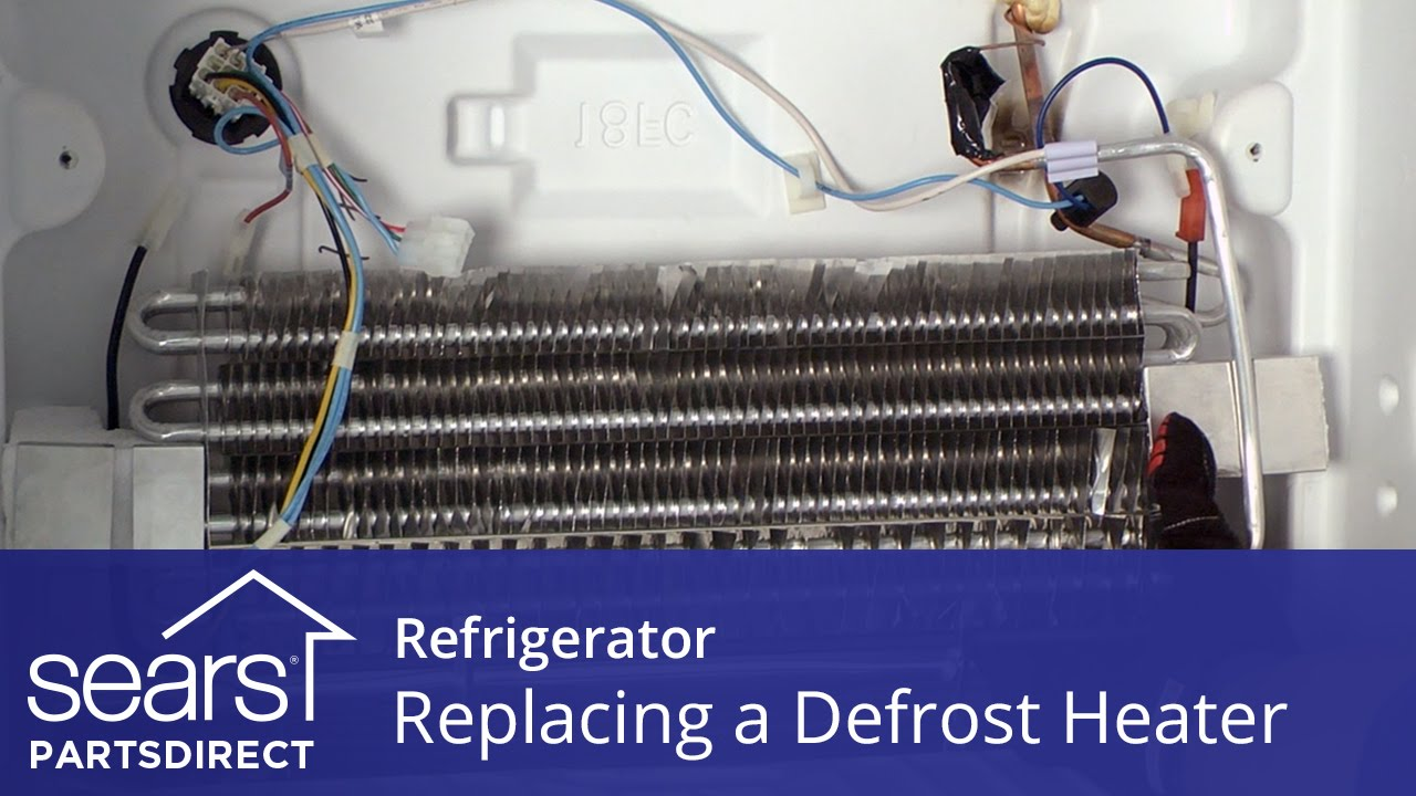 How to Replace a Refrigerator Defrost Heater  YouTube
