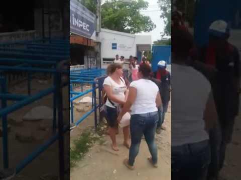 Pelea de mujeres Cartagena 2017