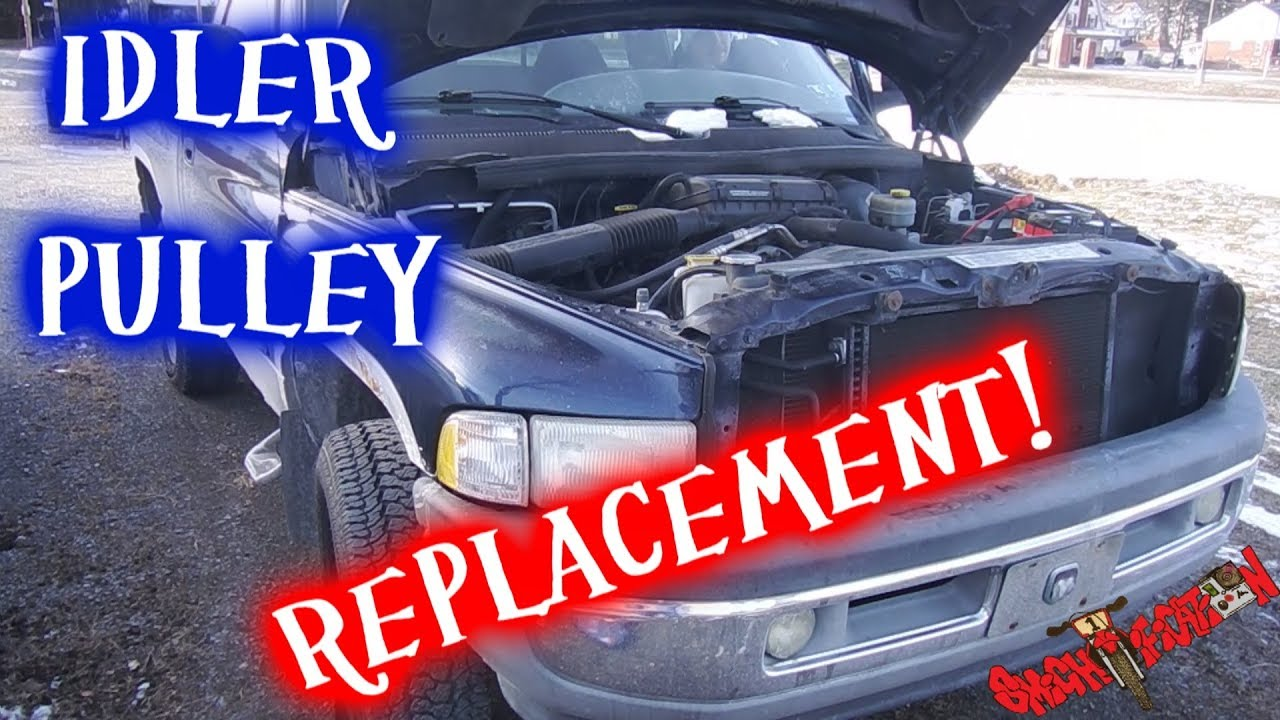 Idler Pulley Replacement 2001 Dodge Ram 1500 59l Youtube 360 Engine Diagram
