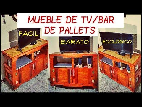 ¿Como hacer un mueble de TV / Bar con Palets?