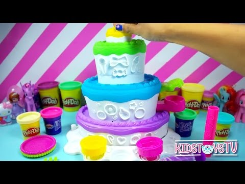 Play Doh sweet cake Cake Mountain Cupcake Playdough toys Pla
