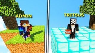 ADMIN VS HACKER! CZY CHEATUJĘ NA WŁASNYM SERVERZE?! Minecraft Skyheroes.pl