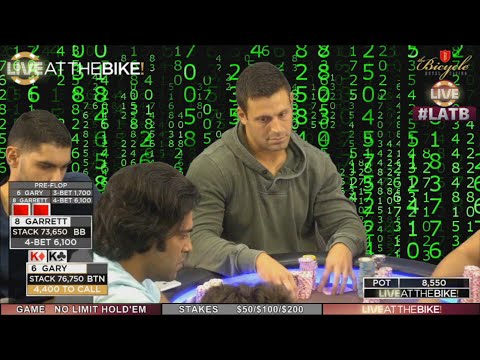 Two Monster Hands Collide in High Stakes Poker ♠ Live at the Bike!