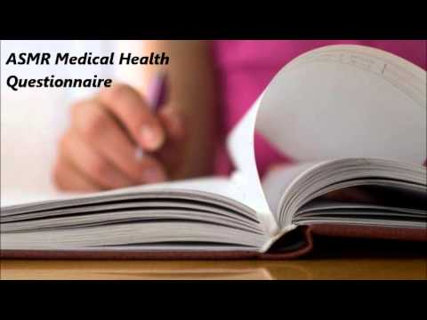 ASMR Medical Health Questionnaire Roleplay, Writing Sounds  (Soft Spoken)