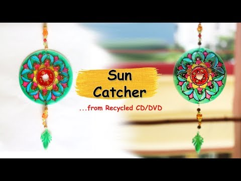 DIY Suncatcher from waste CD/DVD | Recycled Crafts Ideas | DIY Home Decor