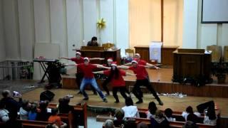 Рождественский танец 2015 Молодежь. Церковь Сион