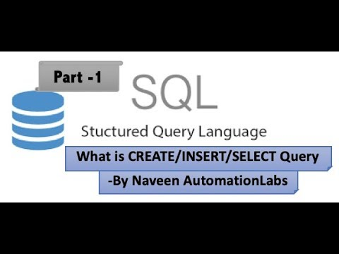 What Is SQL, DB And Select/Create/Insert Query - SQL Series - Part 1