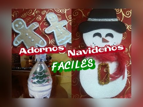 Adornos navide os con material reciclable youtube for Adornos navidenos en 5 minutos