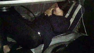 Otomobilin Bagajında Böyle Yakalandı
