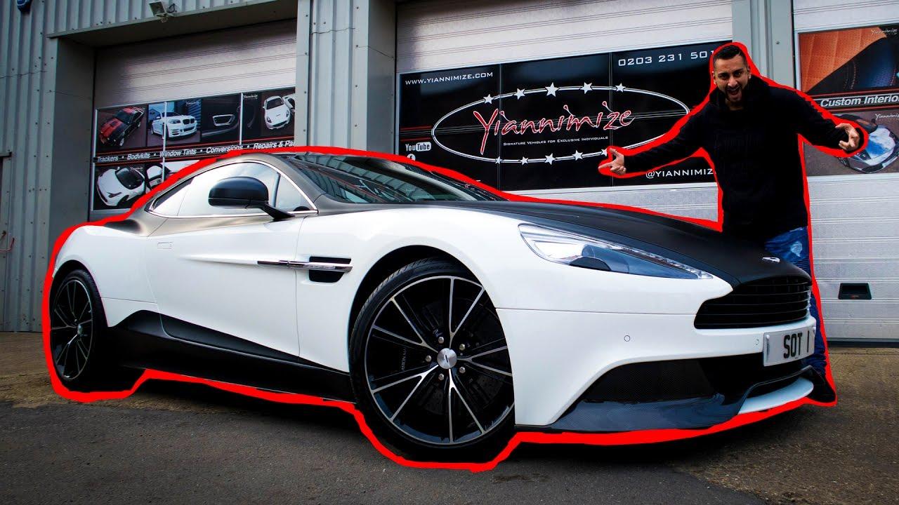 Aston Martin Vanquish Wrapped Half Satin Black Youtube