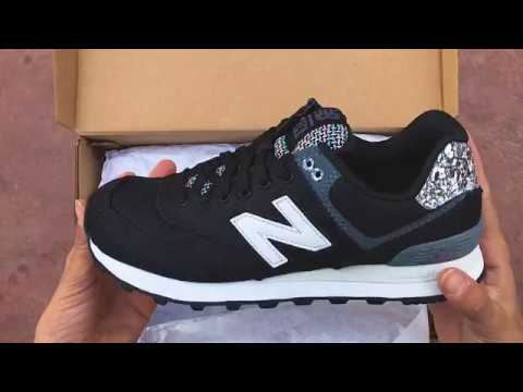 New Balance 574 Black Patterned   Cosmos Sport - YouTube bc24120c643