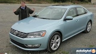 2013 Volkswagen Passat VR6 Test Drive & Mid-Size Sedan Car Video Review