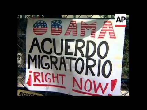 Protest at US embassy against Arizona's immigration law
