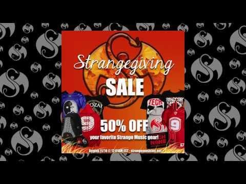 50% Off Strange Music Merch - Strangegiving Sale 2013!