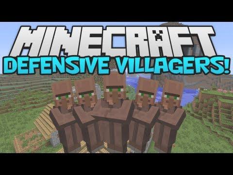 Minecraft 1.5 MOD Mania! ► Defensive Villagers Mod!