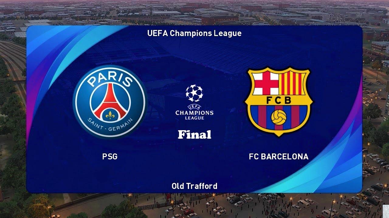 PES 2021 | PSG vs BARCELONA | Final UEFA Champions League ...