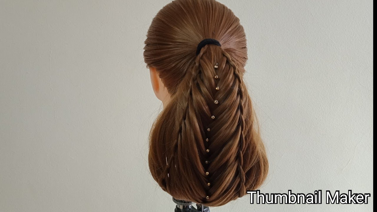 Best Hairstyle Simple Party Hairstyle Youtube