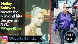 PAPS4REAL *EXCLUSIVE*  Hailey Baldwin hits a boxing class in NYC
