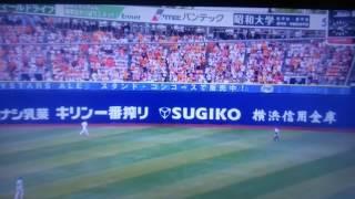 6月25日の横浜スタジアムでのDeNA戦、味方が点を入れた時、喜びの余りマ...
