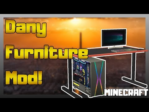 MINECRAFT | Dany Furniture Mod - Awesome Furniture Mod! 1.12.2